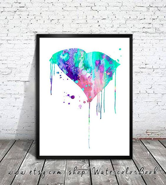 I love this.  South Carolina Watercolor Print USA by WatercolorBook on Etsy