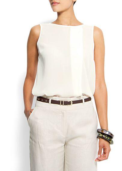 MANGO - CLOTHING - Sheer top