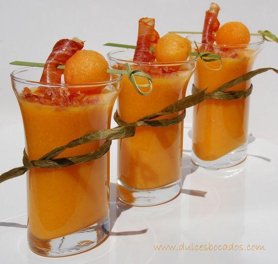 Dulces bocados: Gazpacho de melon cantaloup