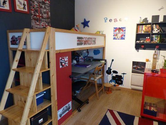 Lit kura mezzanine et bureau int gr bureaux mezzanine et bricolage - Lit mezzanine avec bureau integre ...