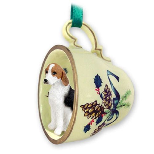 American Foxhound Dog Decorative Green Tea Cup