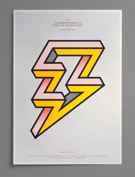 the brightest thunderbolt is elicited from the darkest storm / Magpie Studio