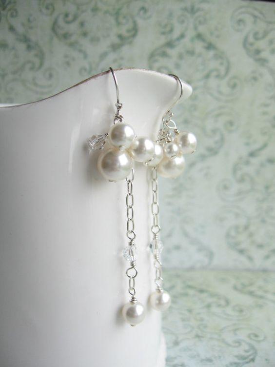 Perfect wedding earrings!