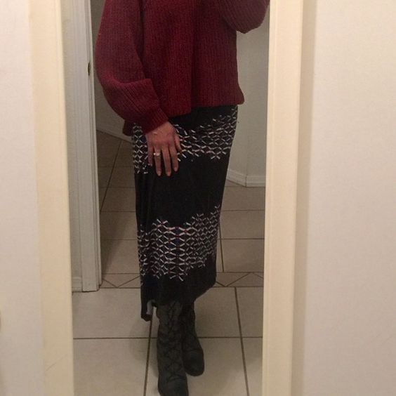Adrianna Papell Maxi Skirt Maxi skirt with a raised front hemline. Elastic waistband, single pleat in front. New without tags. Adrianna Papell Skirts Maxi