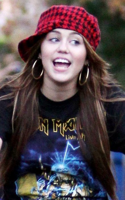 Miley Cyrus loves Iron Maiden.