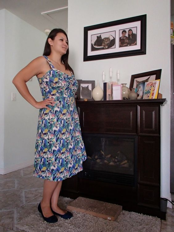REVIEWED: Collectif Tullulah Tropical Toucan print dress   http://silvercatteaparty.blogspot.com/2014/07/more-modcloth-finds-50-off-sale.html