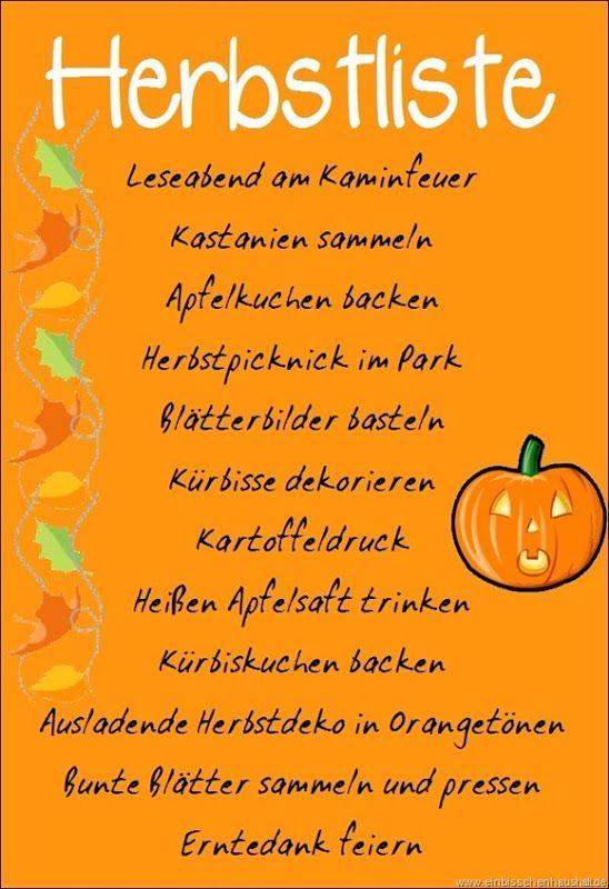 Herbstliste