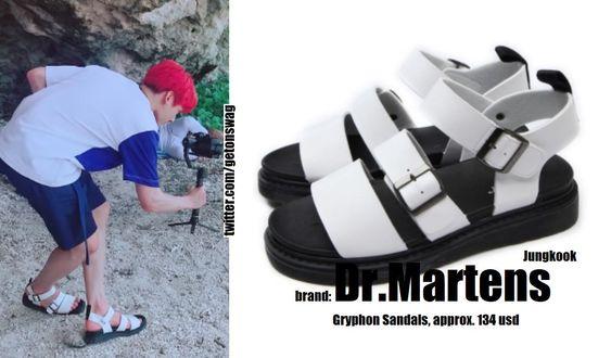 Dr. Martens - Gryphon white/black 2 colour sandals