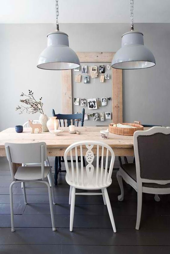 Mix de sillas | Estilo Escandinavo  #deco #decoracion #silla:
