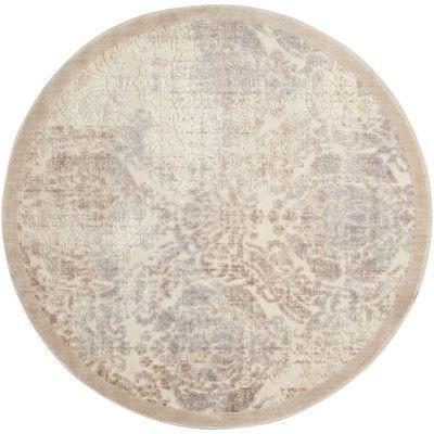 House of Hampton Christena Ivory Area Rug Rug Size: