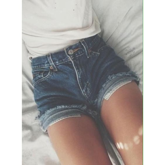 I love the whole shorts with lace idea