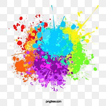 Colour Splash Multicolor Mixed Chinese Dollar Pigment Gorgeous Splash Multicolor Png Transparent Clipart Image And Psd File For Free Download Essie Seni Cat Air