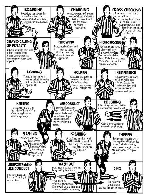 Nhl Referee Signals Now We Have A Reference Bevvvvverly Glas In 2020 Ice Hockey Hockey Rules Hockey