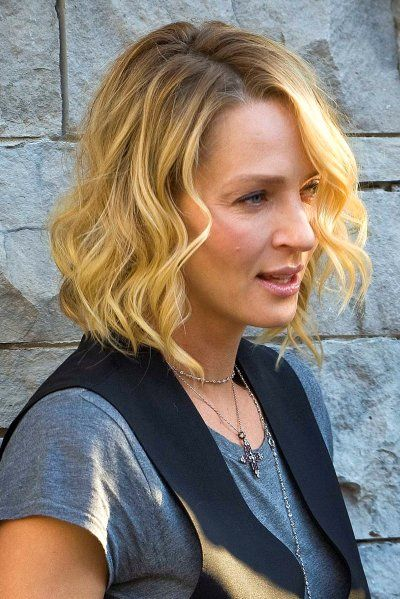 uma thurman hairstyles : Uma+Thurmans+wavy,+blonde+hairstyle+at+the+Toronto+Film+Festival ...