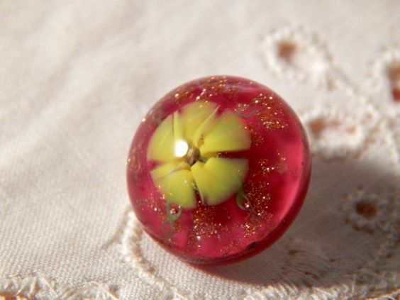 Thura Erickson Paperweight Button with a Bright by Lindasbuttons, $82.75