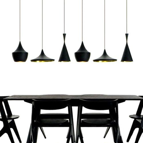 Lightinthebox plafonnier 3 suspensions style industriel en aluminium noir - Suspension luminaire style industriel ...