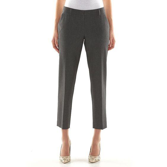 Apt. 9® Curvy Fit Ankle Dress Pants - Women's, Size: 2,