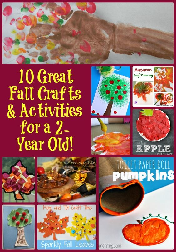 Fall art projects for 2 year olds handprint fall tree for Arts and crafts for 2 year olds
