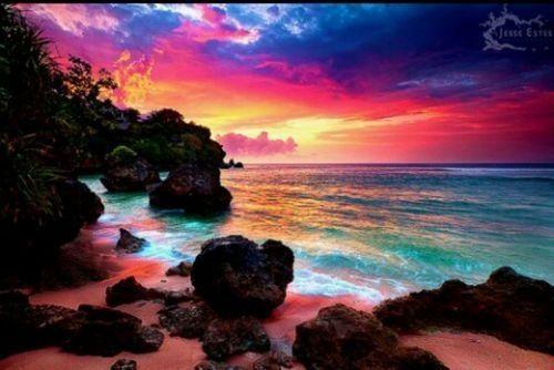 wonderful colours, beach