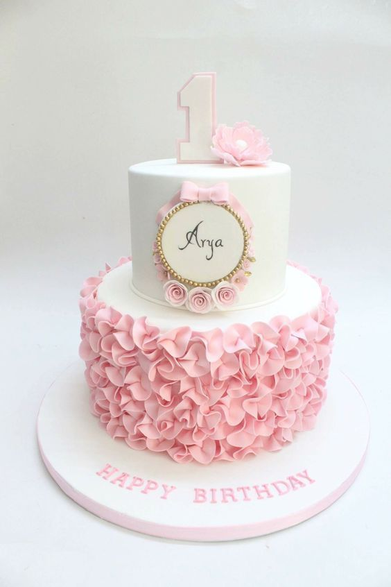 Cakes For Baby Girl : cakes, Birthday, Girl., Whipped, Mixed, Cake:, Cake,, Girls, First