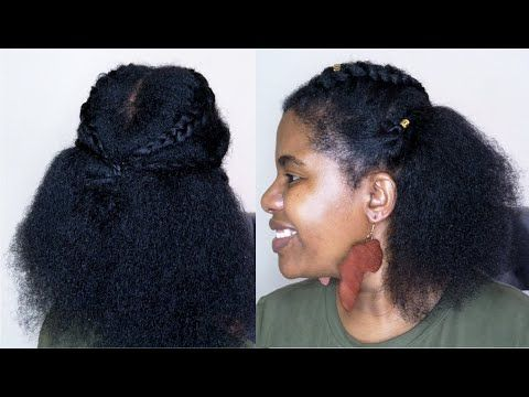 Hairstyle On Stretched Natural Hair Youtube In 2020 Natural Hair Styles African Natural Hairstyles Diy Hairstyles