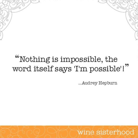 That's right, nothing! #winesister #motivation #monday
