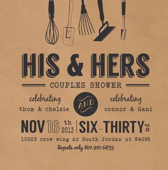 Wedding couples shower invitation