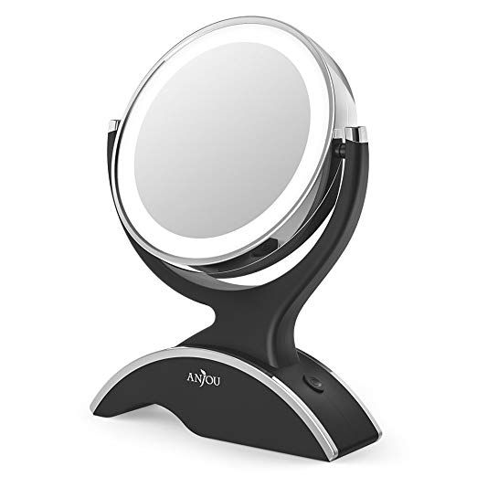 Makeup Mirror Led Lighted With 1x 7x, Battery Led Makeup Mirror