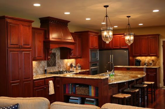 Pretty cherry kitchen my dream kitchen first one i for Kitchen cabinets not wood