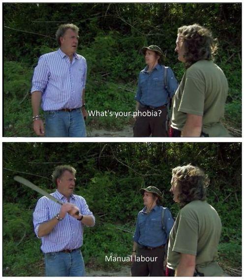 Top Gear UK phobia lol Jeremy Clarkson Richard Hammond James May I can relate lol