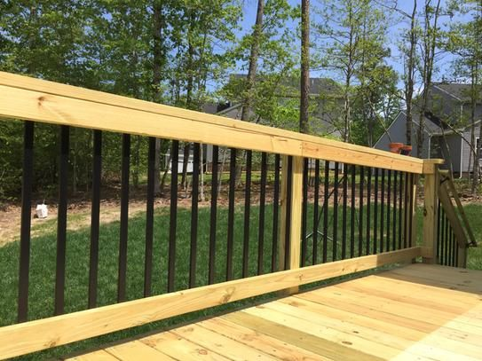 Pegatha 32 1 4 In X 1 In Black Aluminum Face Mount Deck Railing
