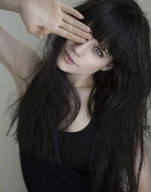 Hair Straight Fringe 44 Ideas Black Hair Aesthetic Straight Black Hair Black Hair Fringe