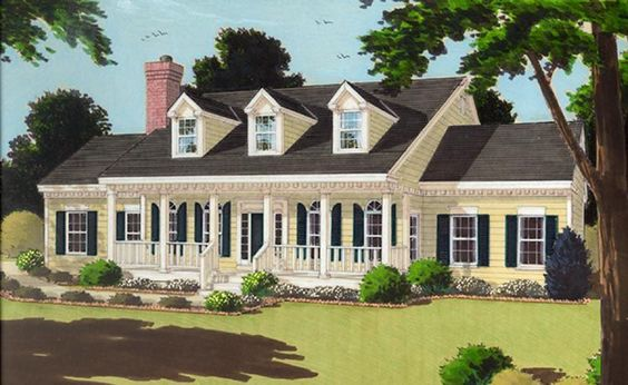 Great one story house plan 7645 dream home pinterest for Single story cape cod house plans