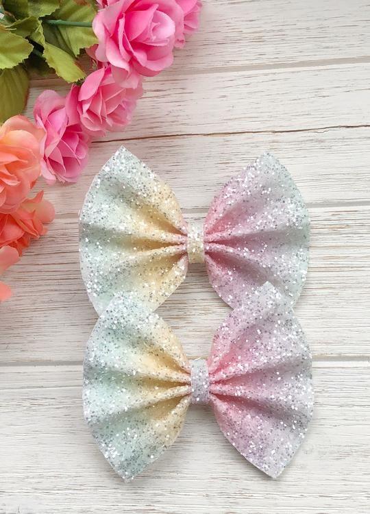 Handmade  Hair Bow Alligator Clip |Bunny Flower Bow Toddler Hair Clip Baby Headband Nylon Headband Faux Leather