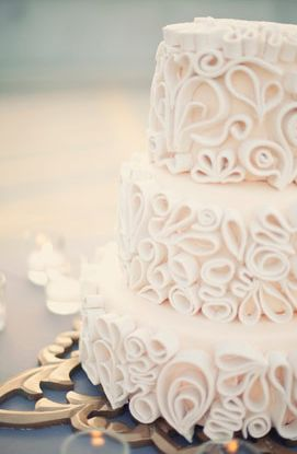 White wedding cake  #indianwedding #shaadibazaar