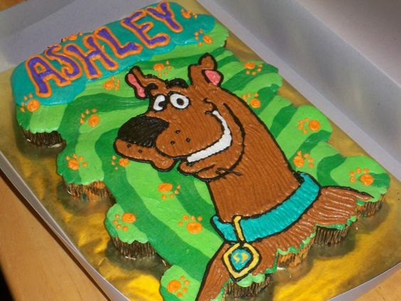scooby doo cupcake cake | cupcake cake made for a little girls 2nd birthday. All BC.: