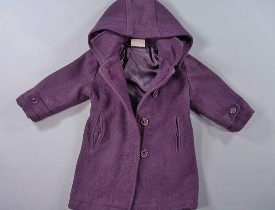 Manteau avec capuche violet Du Pareil Au Même DPAM 12 mois filles