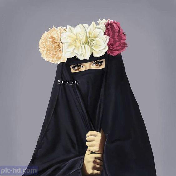 رمزيات بنات محجبات اجمل صور رمزيات بنات كيوت رمزيات كشخه للبنات Muslim Women Hijab Muslim Girls Hijab Cartoon