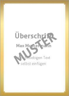 Muster Zertifikat, Diplom, Urkunde Diplom, Zertifikat Rahmen modern, Gold