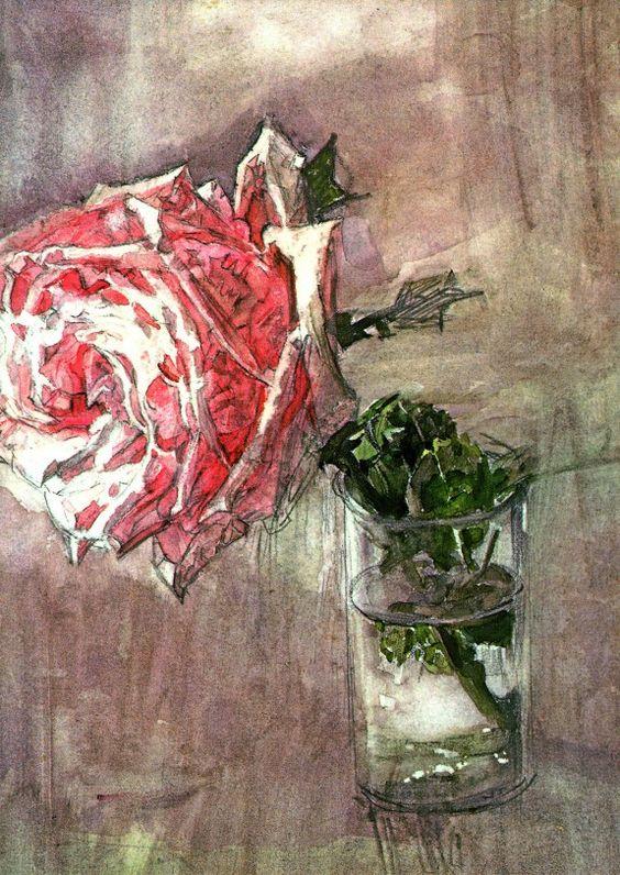 Врубель М.А. - Роза в стакане. 1904. ГТГ