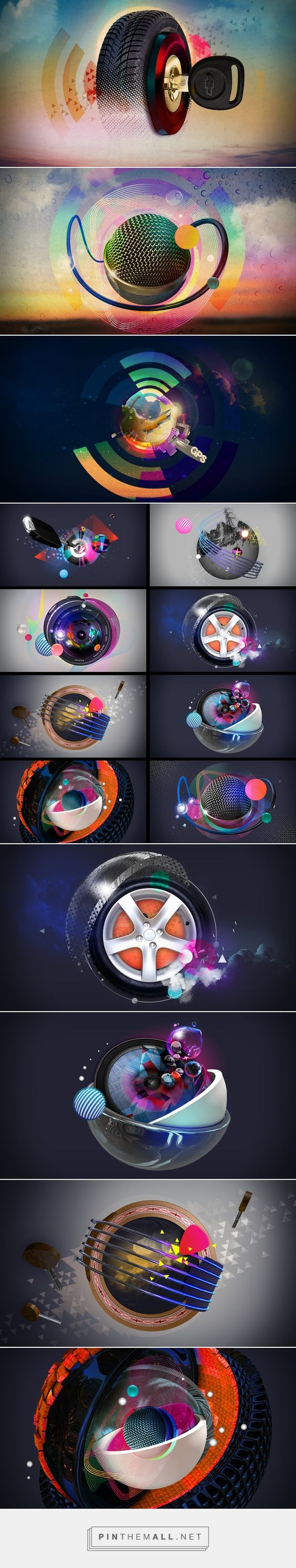 GPS Title Sequence on Behance | Roxanne Silverwood & Uzo Uzogiwe, motion graphics, 3D, Cinema 4D, Art Direction, Circular, Spherical, MTV, Music