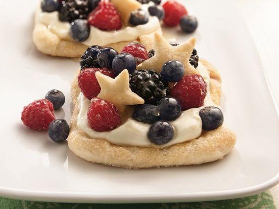 Berry-Lemon Cheesecake Squares #4thofJuly