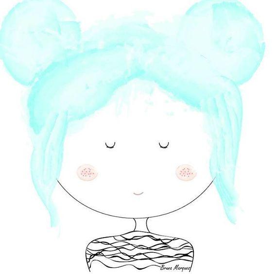 Oii gente, eu sou uma nova ilustradora que está em fase de aprendizado, quem gostar e puder me seguir no Instagram ficarei muito grata! @ilustracoesdabru e essa é a Menina da bochecha de algodão doce 💙 ilustração simples porém tudo é uma evolução 😊 #adobeillustrator #illustrator #digitalillustration
