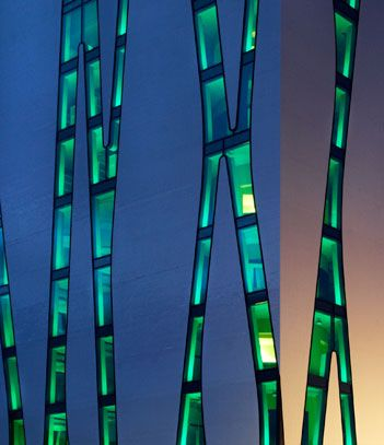 O.A.S.E. Lern- und Kommunikationszentrum  Fachbibliothek Medizin, Heinrich-Heine-Universität Düsseldorf Bauherr: Universitätsklinikum Düsseldorf A.d.ö.R. Standort: Düsseldorf / BGF: 5 055 m² / Fertigstellung: 2011