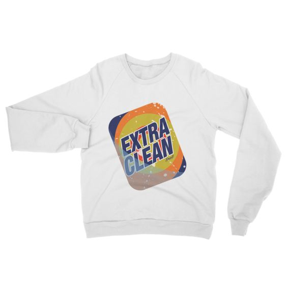 'EXTRA CLEAN' CREWNECK SWEATER
