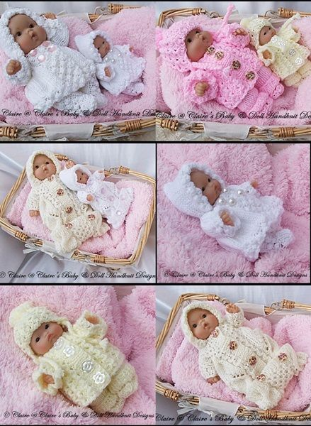 Knitting Patterns For 8 Berenguer Doll Clothes : Compilation of Three Winter 5&8
