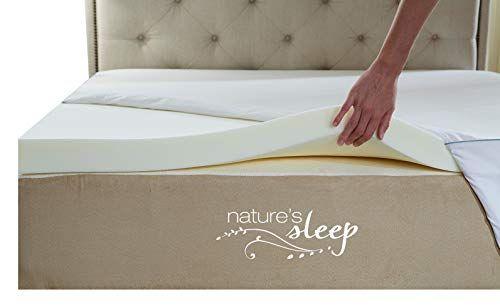 Nature S Sleep Cool Iq Twin Xl Size 2 5 Inch Thick 3 5 Pound Density Visco Elastic Memory Foa Mattress Topper Memory Foam Mattress Topper Foam Mattress Topper