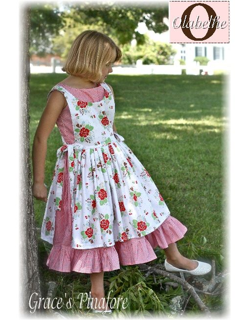 Girls Pinafore Dress Dress Yp