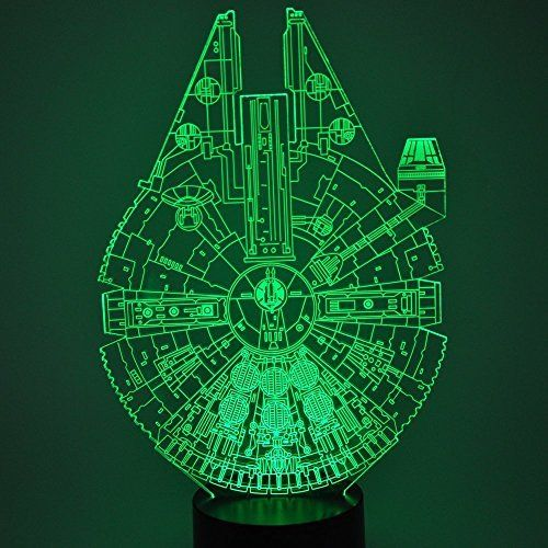 Optical Illusion 3d Glow Led Lighting Toys Nightlight With 7 Colors Changing Decor Lamp Star Wars Millennium Falcon Model Star Wars Bb8 Star Wars Visual Illusion