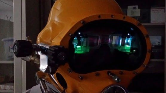 The U.S. Navy has developed a new diving technology: the Divers Augmented Vision Display, a high-resolution, see-through head-up display, embedded directly inside a diving helmet. http://maritime-executive.com/article/heads-up-display-for-diving-helmets